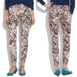 Madewell Floral Sungarden Skinny Ankle Jeans sz 28